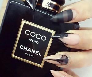 black, chanel, and perfume image