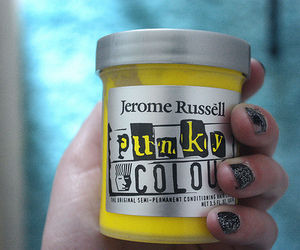 hair dye and yellow image