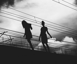 girls and shadow image