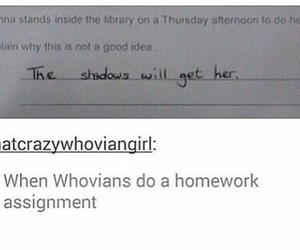 doctor who, donna, and homework image