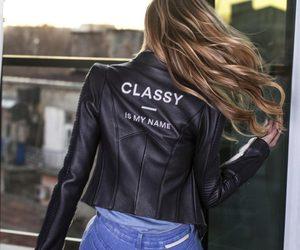 back, biker jacket, and brand image