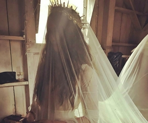 wedding, troian bellisario, and dress image