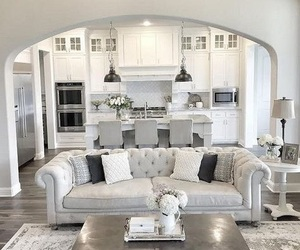 home, living room, and grey image