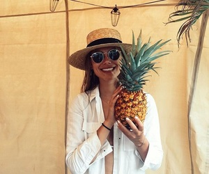 pineapple, summer, and sunglasses image