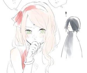sasusaku, anime, and sasuke uchiha image