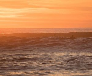 photography, sunset, and surf image