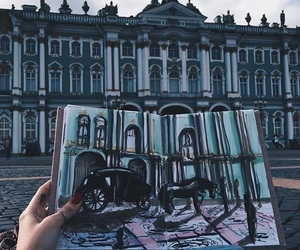 art, building, and markers image