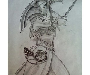 drawing, egyptian, and warrior image