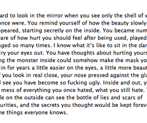 quote and self harm image