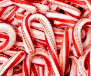 christmas, red, and candy cane image