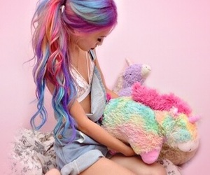 unicorn and colorfulhair image