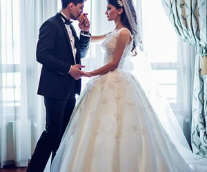 couple, dresses+, and wedding image