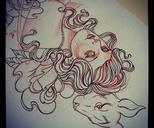 Art Nouveau, drawing, and indie image