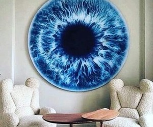 eye, amazing, and blue image