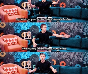 funny, tom holland, and Marvel image