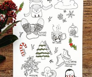 art, christmas, and doodle image