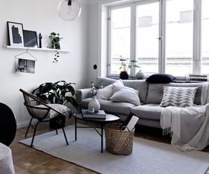 gray, interior design, and living room image