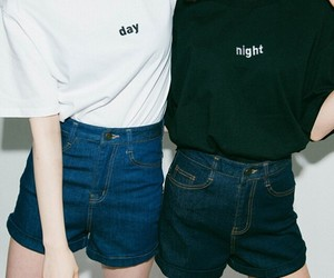 day, night, and black image