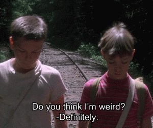 weird, stand by me, and boy image