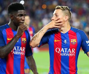 football, fc barcelona, and messi image