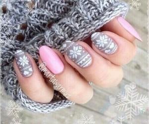 nails, pink, and fashion image
