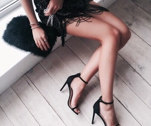 chic, girl, and pumps image