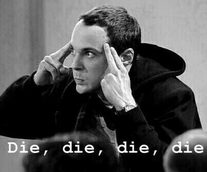 die, sheldon, and funny image