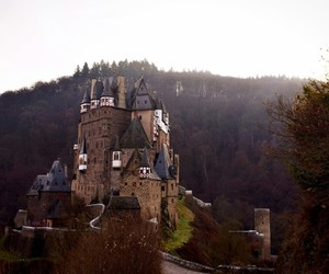 castle, christmas, and coffee image