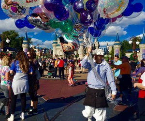 balloons, colors, and disney image