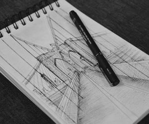 art, brooklyn bridge, and draw image