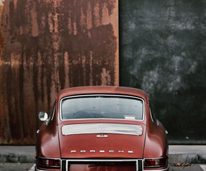 car, porsche, and red image