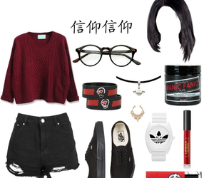 glasses, outfits, and Polyvore image