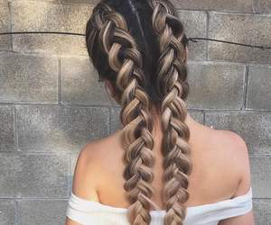 blonde, braid, and brown image