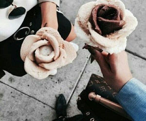 ice cream, food, and rose image