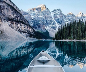 mountains, nature, and lake image