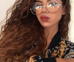 hair, glasses, and beauty image