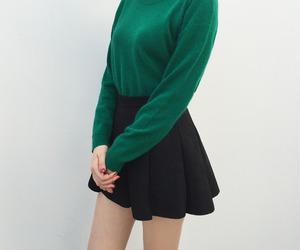 green, black, and fashion image