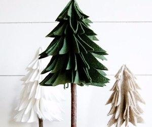 christmas tree, diy, and felt image