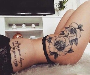 body, flower, and quote image