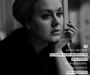 Adele, easel, and quote image