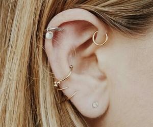 piercing, earrings, and beauty image