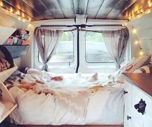 van, bedroom, and lights image