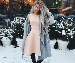 fashion, girl, and dress image