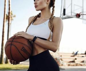 girl, Basketball, and sport image