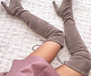 beige, pretty, and boots image