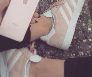 adidas, pink, and iphone image