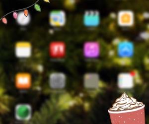 apple, christmas, and coffee image