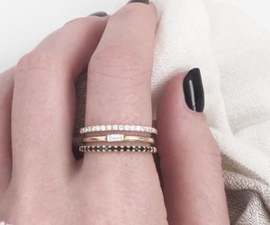 gold, pretty, and rings image