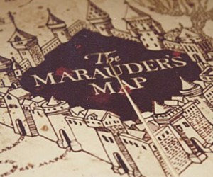 harry potter, the marauders map, and harrypotter image
