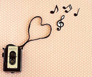 music, vintage, and heart image